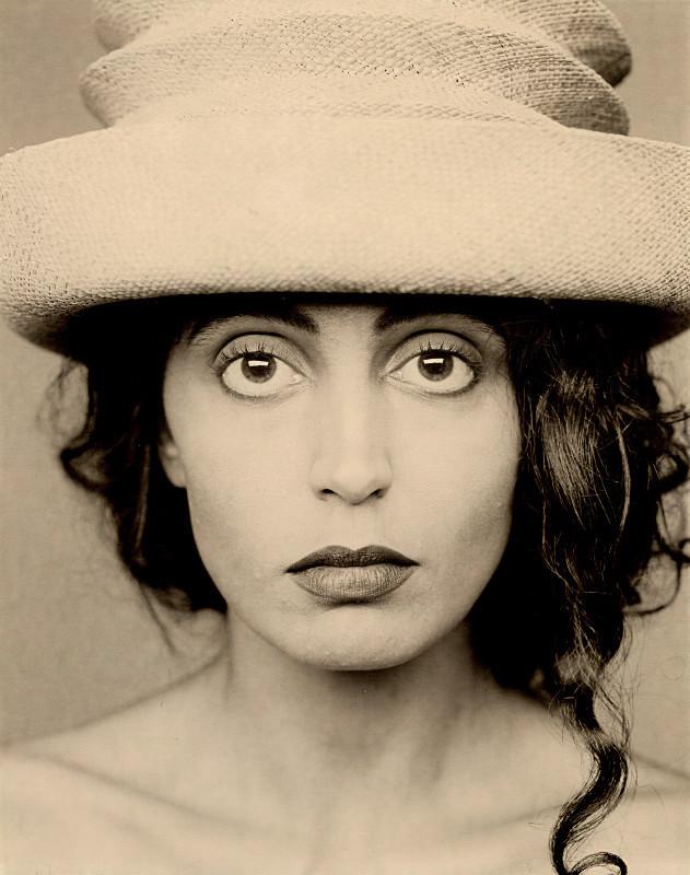 Milva with Zickzack Hat, 1991